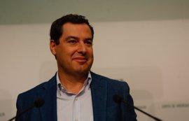 """Moreno asegura que el PP-A """"no se cierra a negociar"""" el Presupuesto pero lo supedita a la eliminación de sucesiones"""