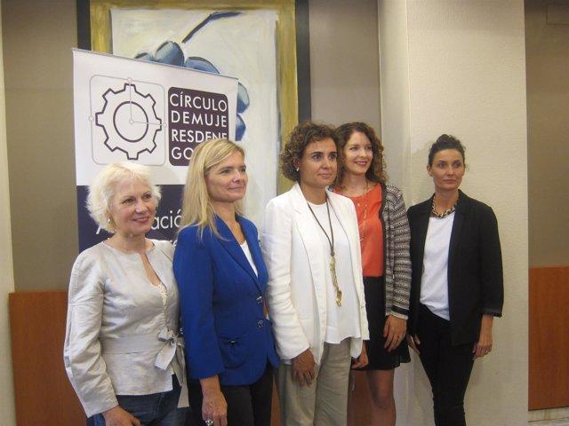La ministra D.Montserrat, con el Círculo de Mujeres de Negocios