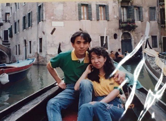 Japonés en su luna de miel en Venecia