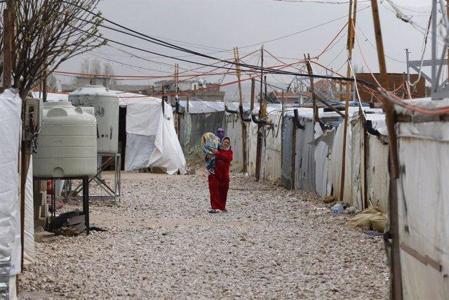 Campo de refugiados sirios en el valle de la Becá