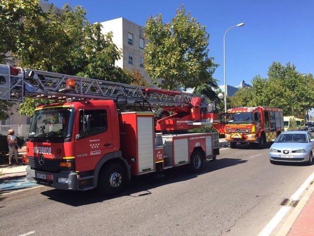 Incendio en Alcobendas