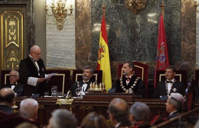 Maza habla ante el Rey en la apertura del Año Judicial