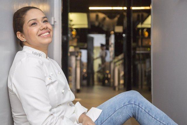 La cocinera María Marte de dos estrellas Michelin