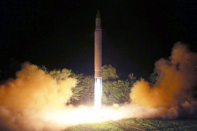 Misil balístico interncontinental disparado por Corea del Norte