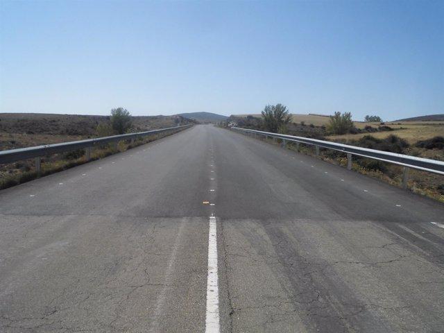 Mejora del firme en una carretera autonómica