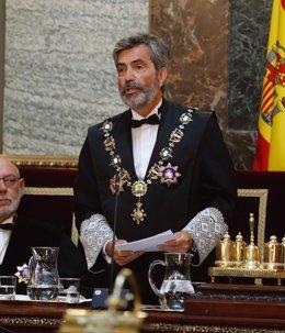 Lesmes durante su intervención en la solemne sesión de apertura del año judicial