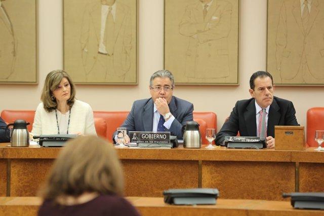 El ministro de Interior, Juan Ignacio Zoido, comparece en la Comisión de Interio