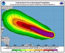 'Irma' se convierte en un huracán de categoría 5
