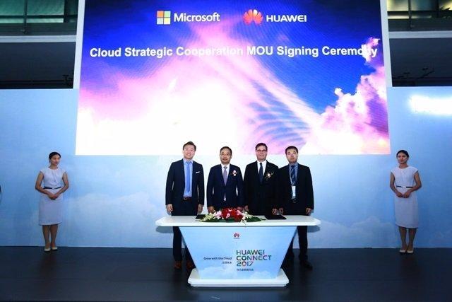 Firma de acuerdo sobre cloud entre Huawei y Microsoft