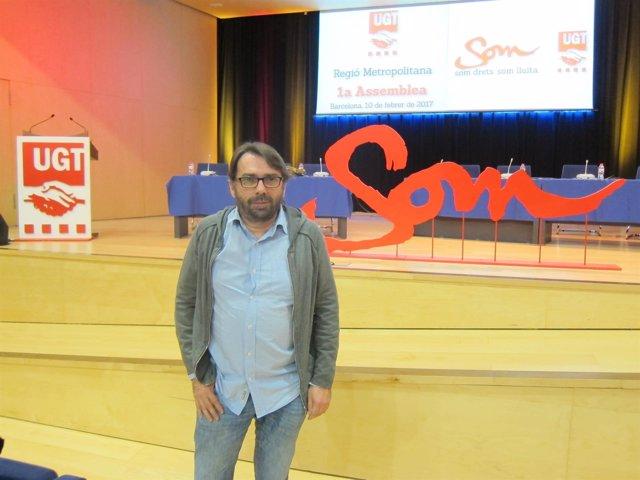 El secretario general de UGT de Catalunya, Camil Ros
