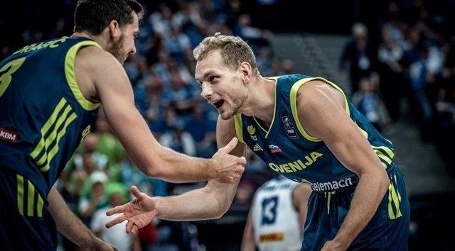 La selección eslovena de baloncesto en el Eurobasket