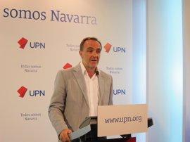 """Esparza dice que al Gobierno de Navarra """"le toca mojarse y tomar una decisión"""" sobre el TAV"""
