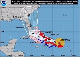 El huracán Irma llegará a la región oriental de Cuba