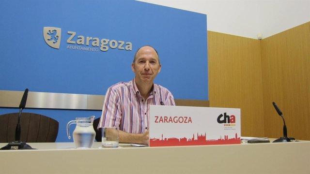 El portavoz de CHA en el Ayuntamiento de Zaragoza, Carmelo Asensio