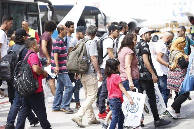 Refugiados llegados a España