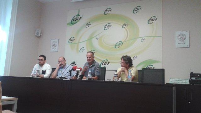 Rueda de prensa de CSIF, UGT y CCOO sobre movilizaciones en el exterior