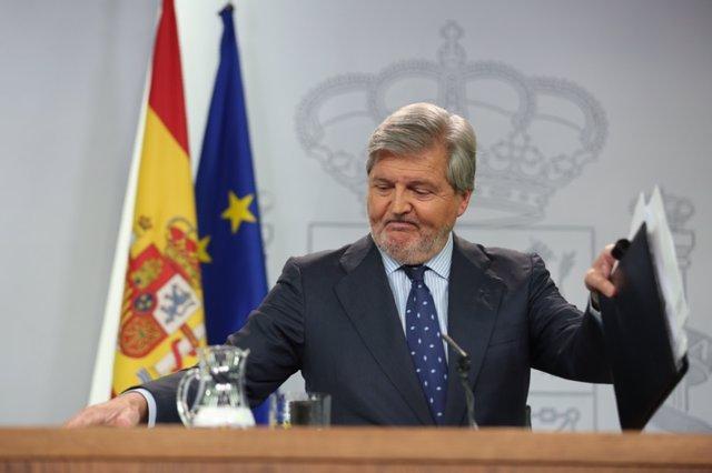 Ueda De Prensa De Iñigo Méndez De Vigo Tras El Consejo De Ministros