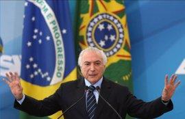 La Fiscalía de Brasil acusa a seis miembros del partido de Temer de formar una organización criminal