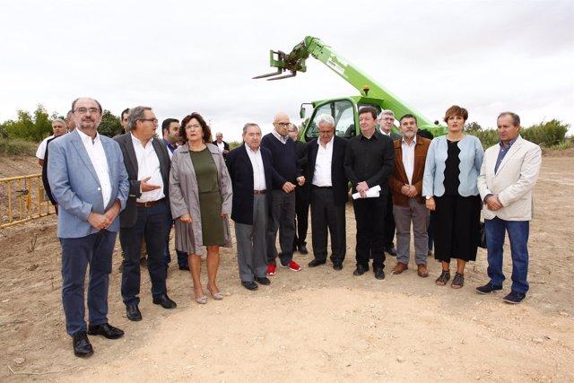 Lambán ha visitado este sábado Novallas (Zaragoza)