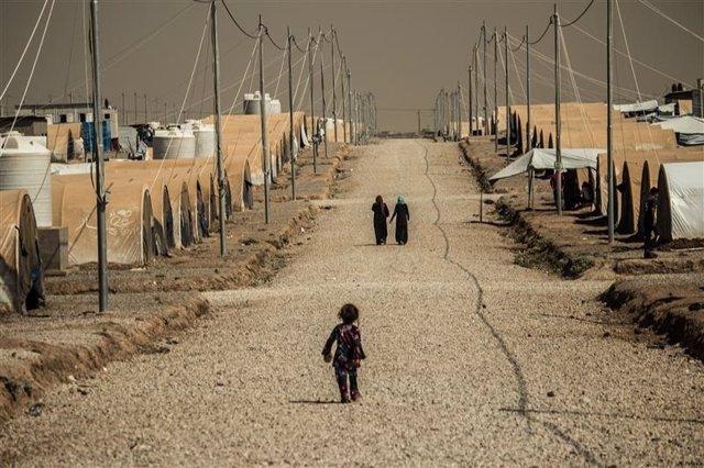 Campo de desplazados de Mosul
