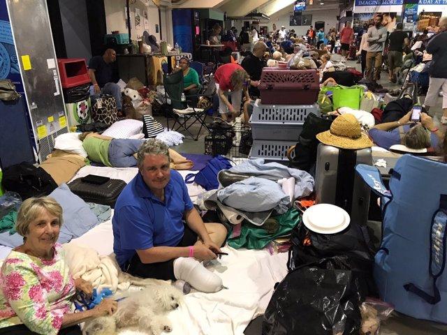 Refugio para los evacuados por el huracán 'Irma' en Florida