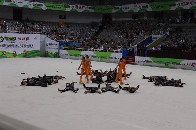 CPA Olot, campeón del mundo Grupos-Show Grande de patinaje artístico