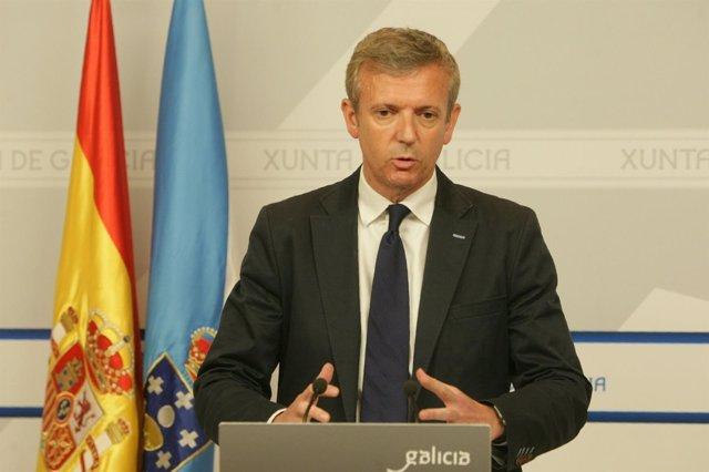 El vicepresidente de la Xunta, Alfonso Rueda, tras el Consello