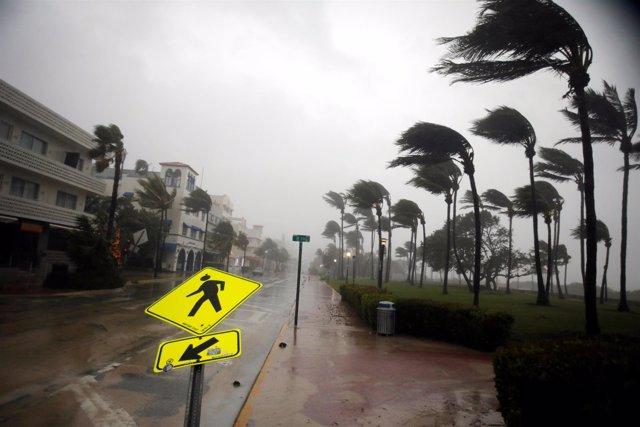 Viento provocado por el huracán 'Irma' en Florida