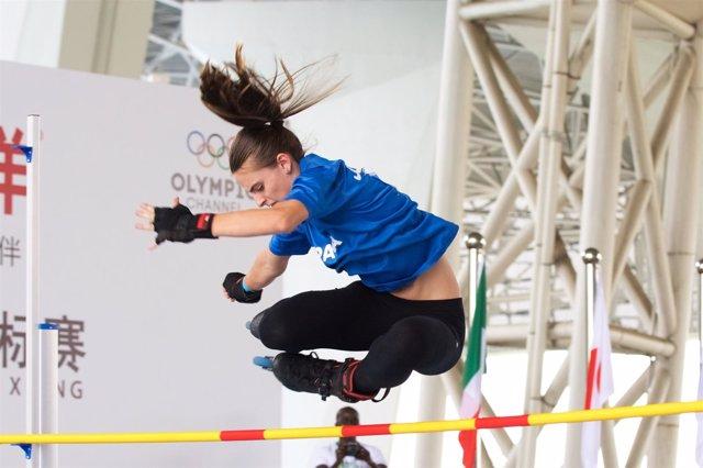 Marina Oliveras inline freestyle World Roller Games