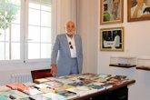 Foto: Un hijo de Sender visita el centro dedicado al escritor en el Instituto de Estudios Altoaragoneses