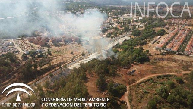 Incendio en Minas de Riotinto