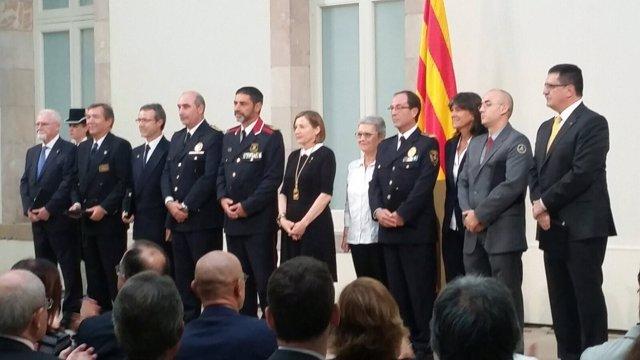Entrega de la Medalla de Honor del Parlament tras los atentados en Catalunya