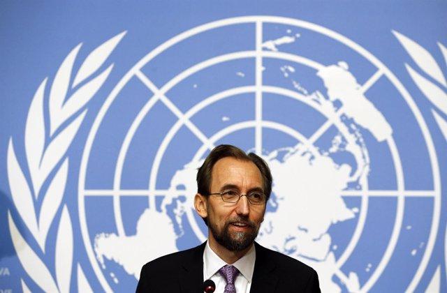 El Alto Comisionado de Naciones Unidas para los DDHH, Zeid Raad al Husein