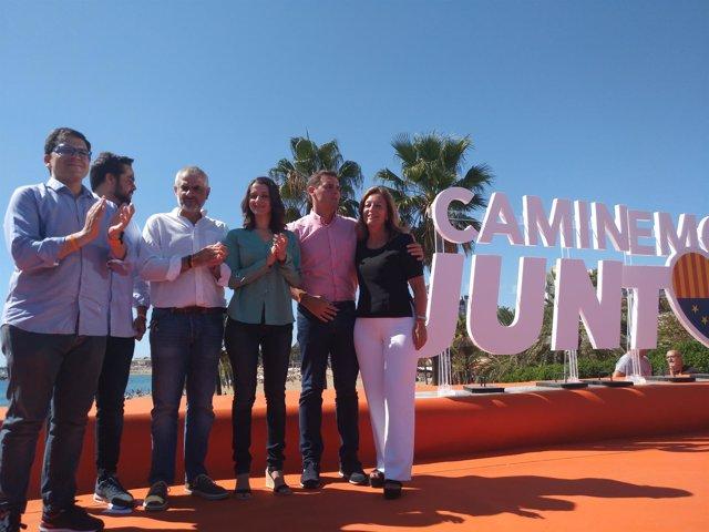 Espejo-Saavedra, De Páramo, Carrizosa, Arrimadas y Rivera (Cs)