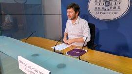 Podemos presenta enmiendas a la reprobación a Barceló planteada por el PP y le pide responsabilidades por el caso ORA