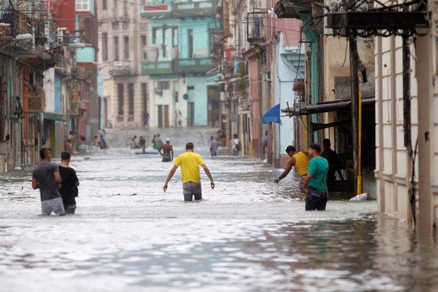 Inundaciones causadas por el huracán 'Irma' en La Habana