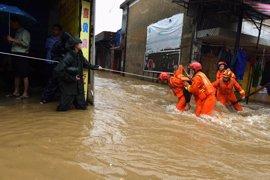 Al menos ocho muertos por las inundaciones en China