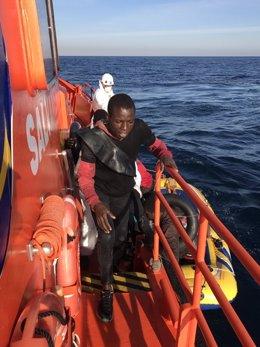 Inmigrantes rescatados en las costas gaditanas