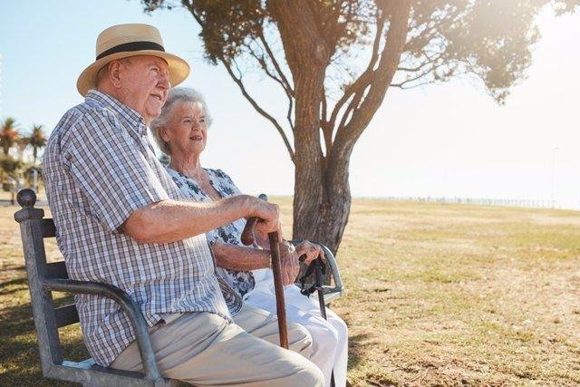 Mayores, ancianos, pareja, matrimonio