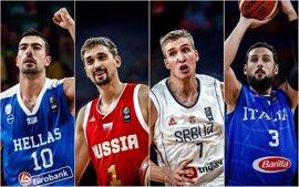 Rusia y Serbia buscan las semifinales ante Grecia e Italia