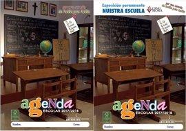 Tapan la imagen de Franco, el rey Juan Carlos y un crucifijo de una agenda escolar de Lucena