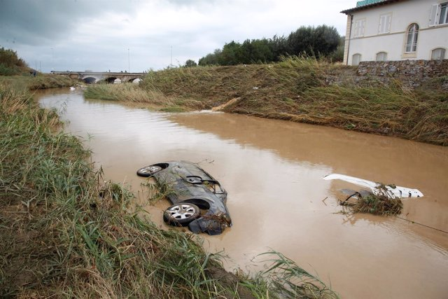 Inundaciones en Livorno (Italia)