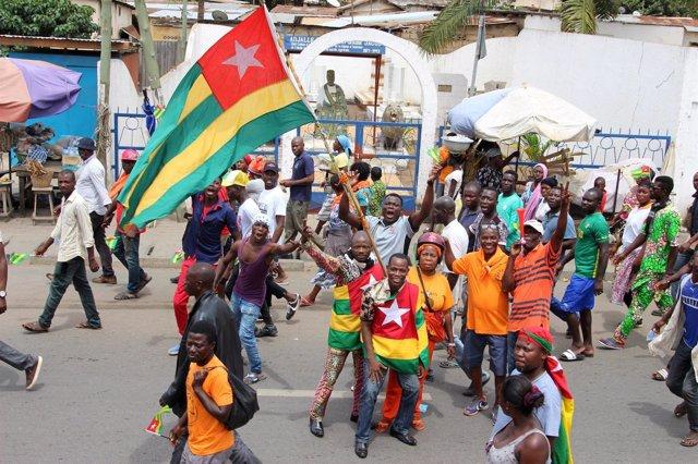 Seguidores de la oposición de Togo