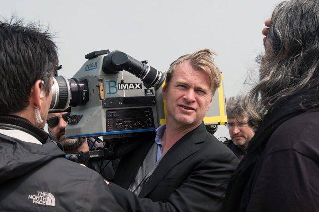 Christopher Nolan durante el rodaje de Dunkerque