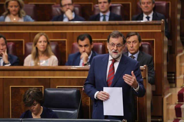 Rajoy en la sessió de control al Govern espanyol al Congrés