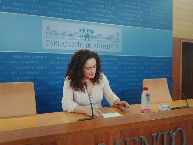 La portavoz adjunta del Grupo Parlamentario de IULV-CA, Inmaculada Nieto