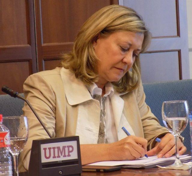 Pilar del Olmo en la UIMP