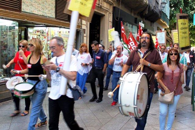 Manifestación por el convenio de hostelería.