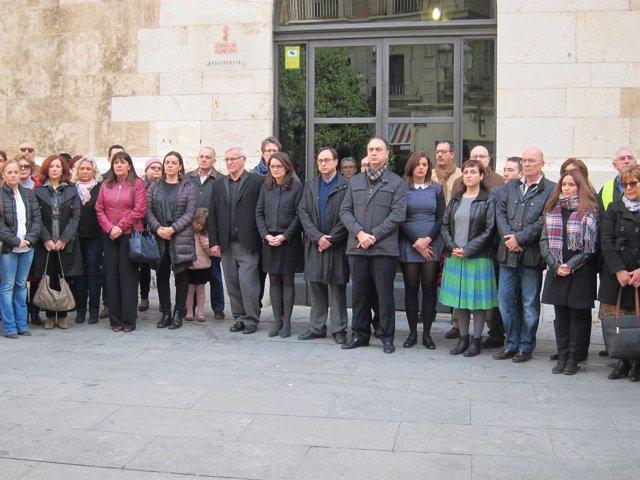 Concentración ante el Palau de la Generalitat por violencia machista. Archivo