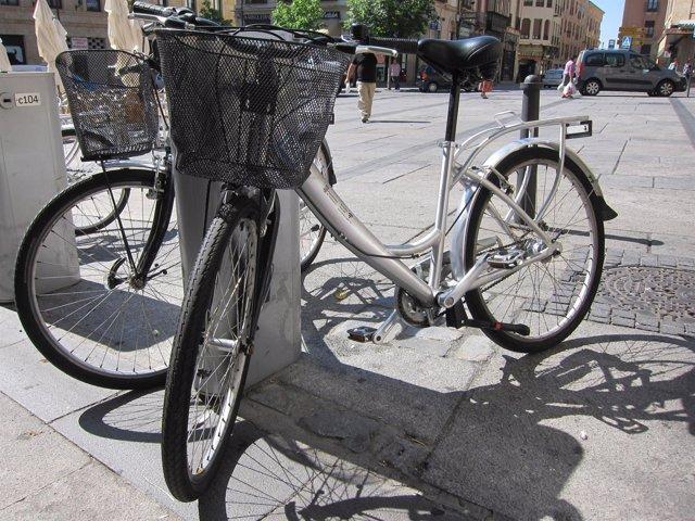 Bicicletas en la ciudad de Salamanca.